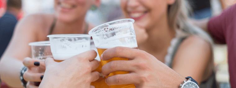 craft beer festival drinkers
