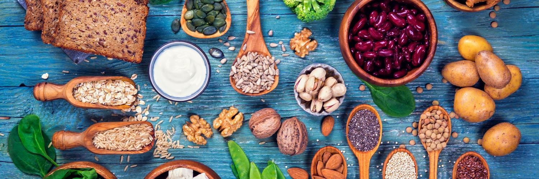 Vegan food on table