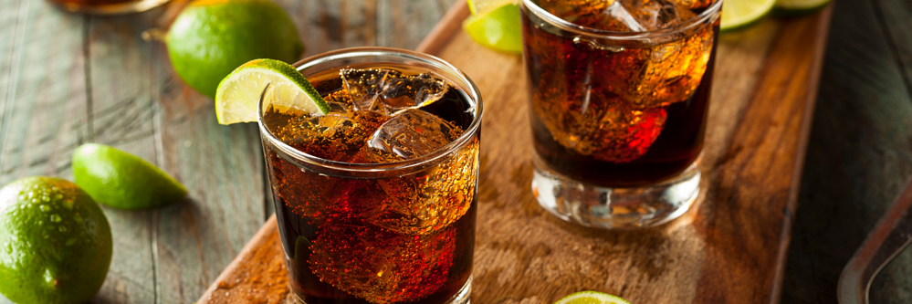 Rum and coke drink