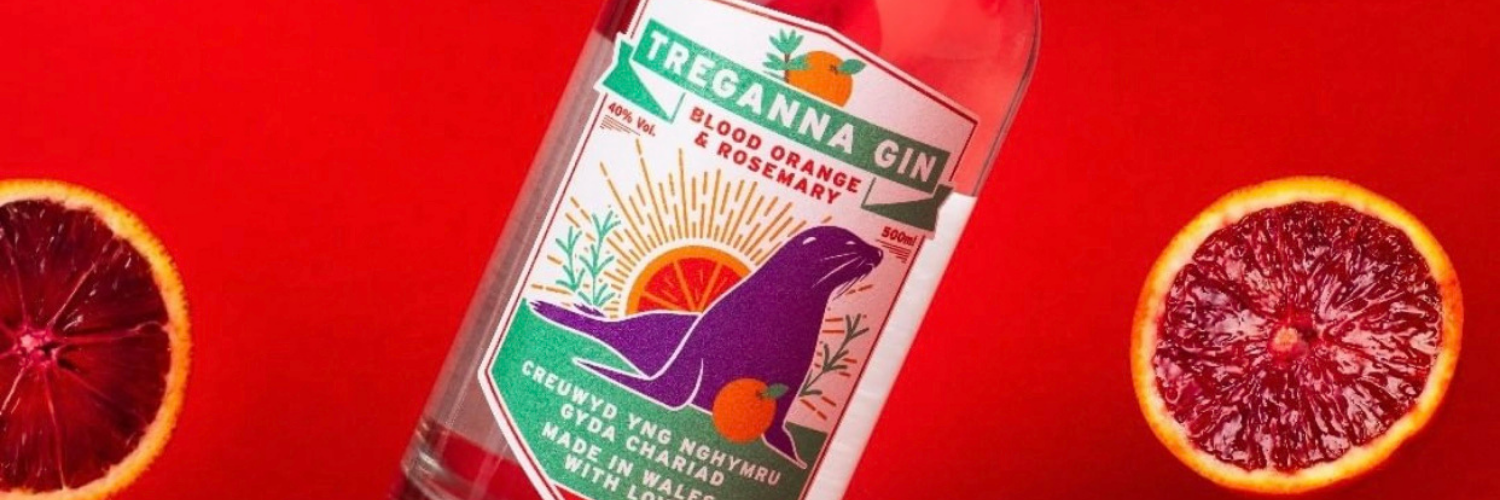 colourful gin labels