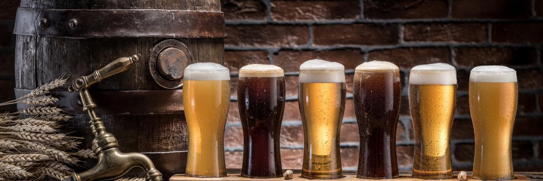 craft beers and barrel